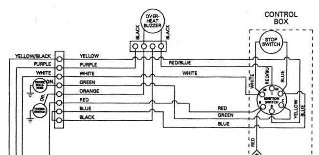 Outboard motor Ignition Switch F5H268 F5H078 MP39100 MP39830 – Johnson Ignition Switch Wiring Diagram